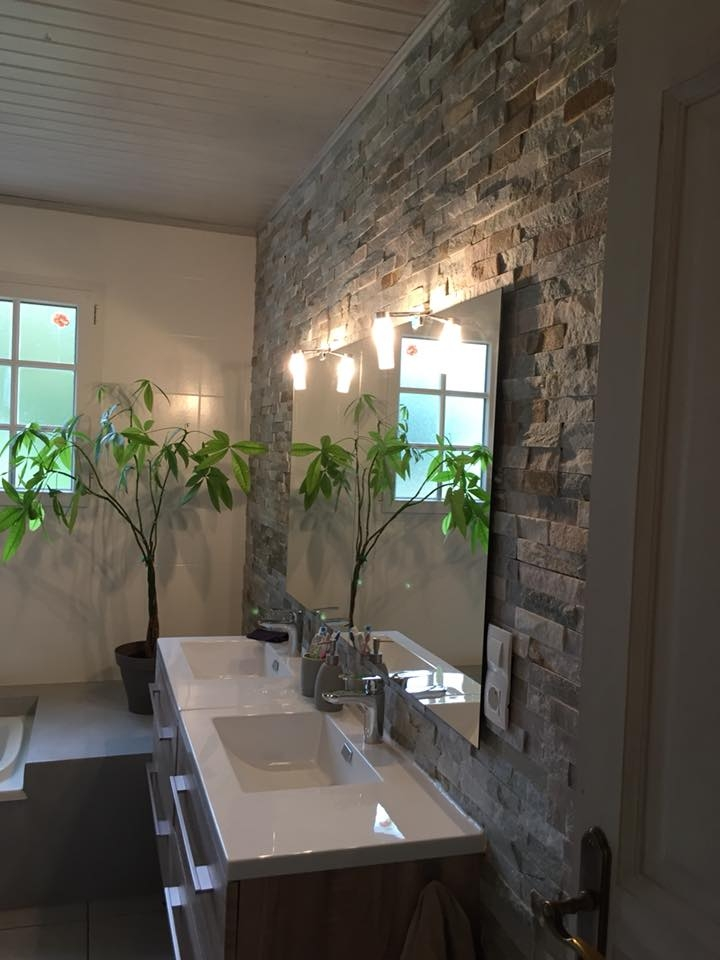 Salle de bain en béton ciré en Vendée : Saint Urbain