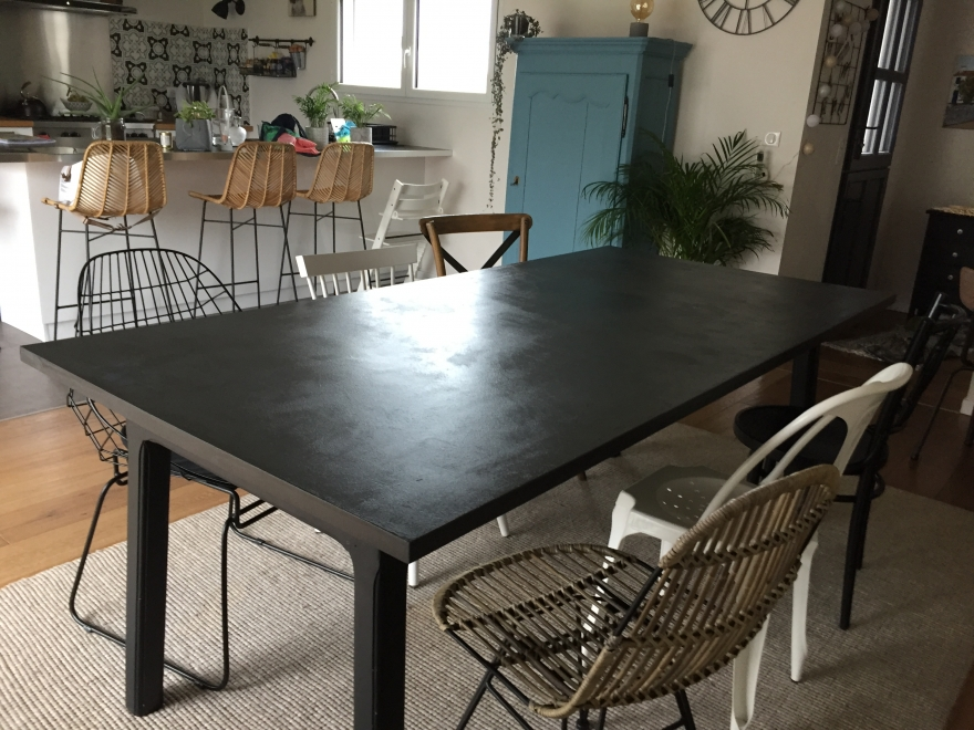 TABLE UNIE ARDOISE